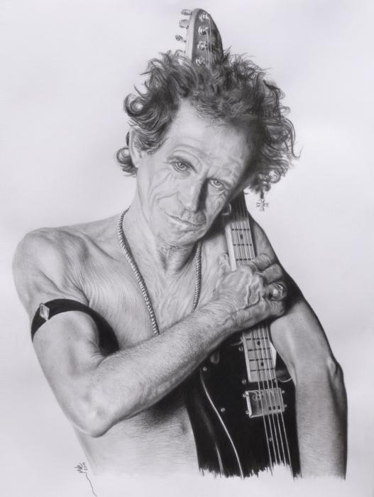 Keith Richards by KILE